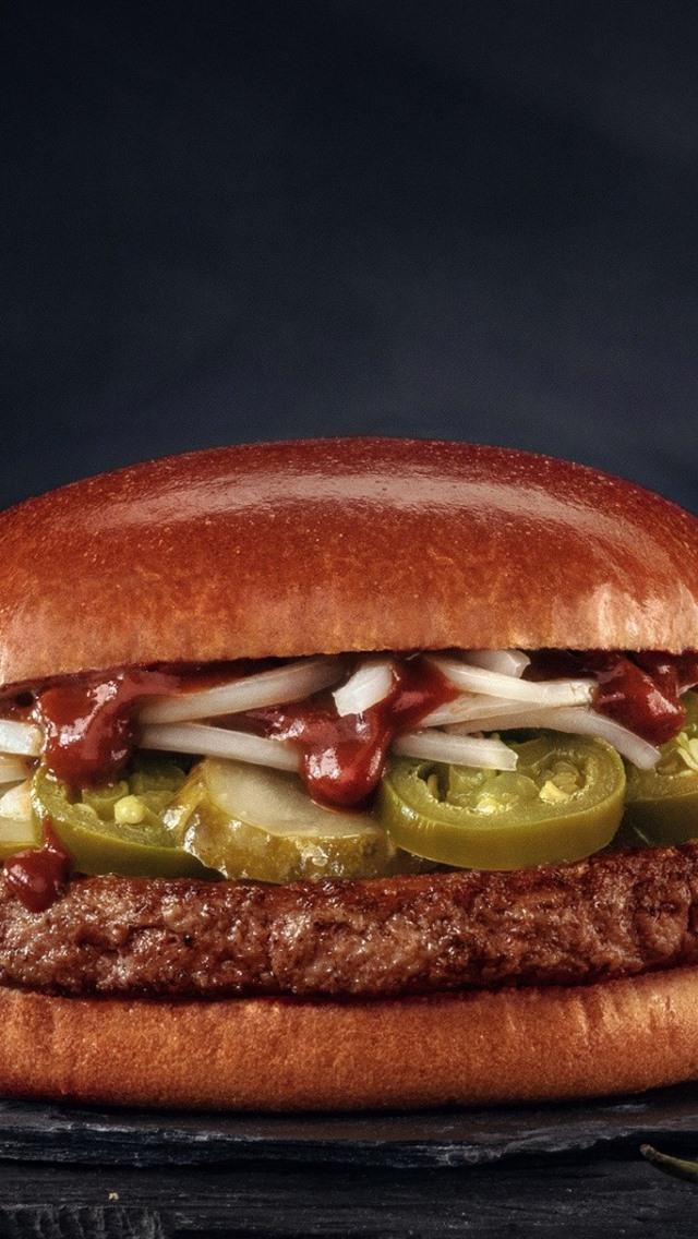 Fast Food, Hamburger 640x1136 IPhone 5/5S/5C/SE Wallpaper