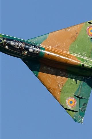 iPhone Wallpaper Fighter, plane, flight, sky