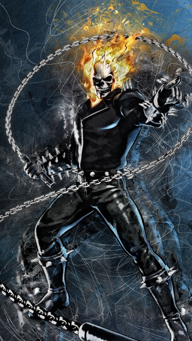 Wallpaper Ghost Rider, Marvel, DC comics, art picture ...