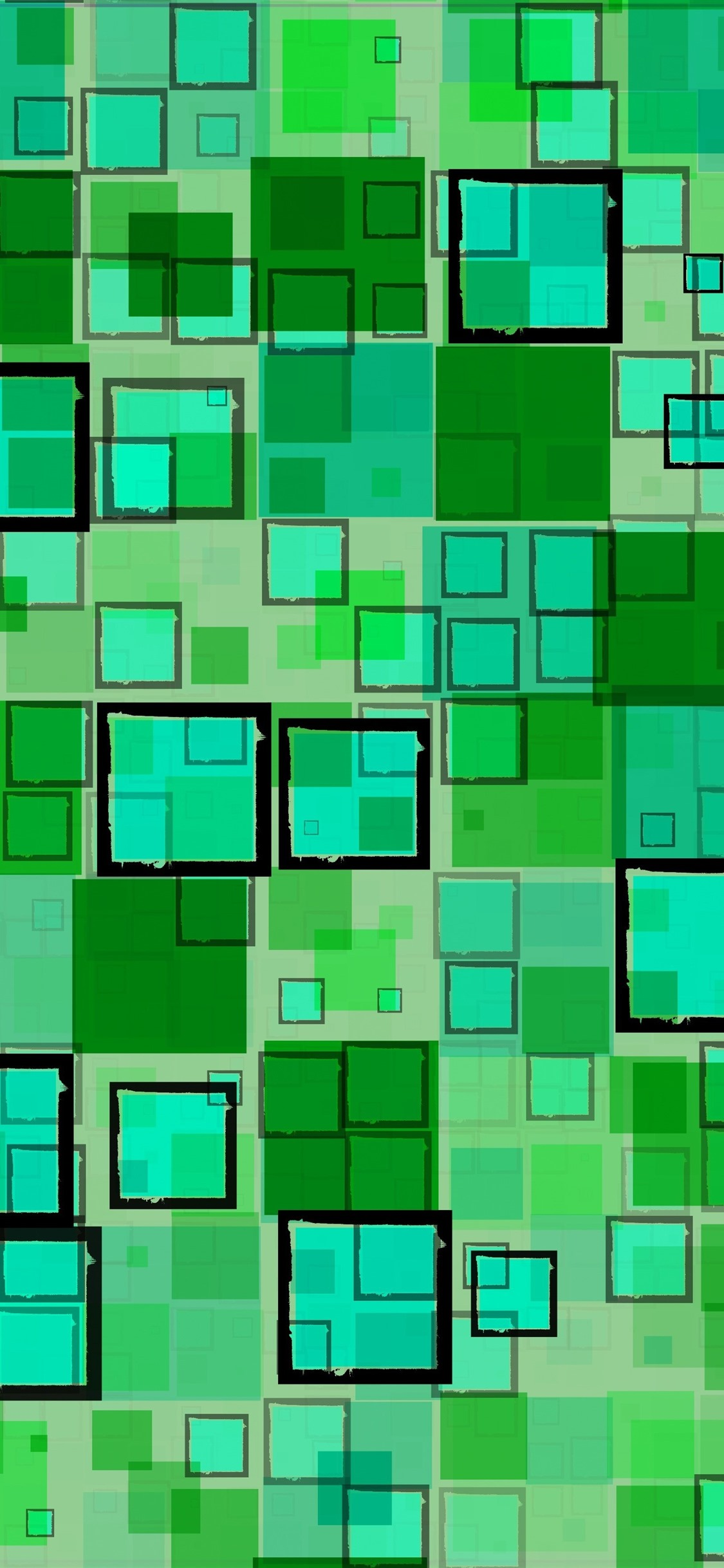Green Squares Geometric Texture Background 1125x2436