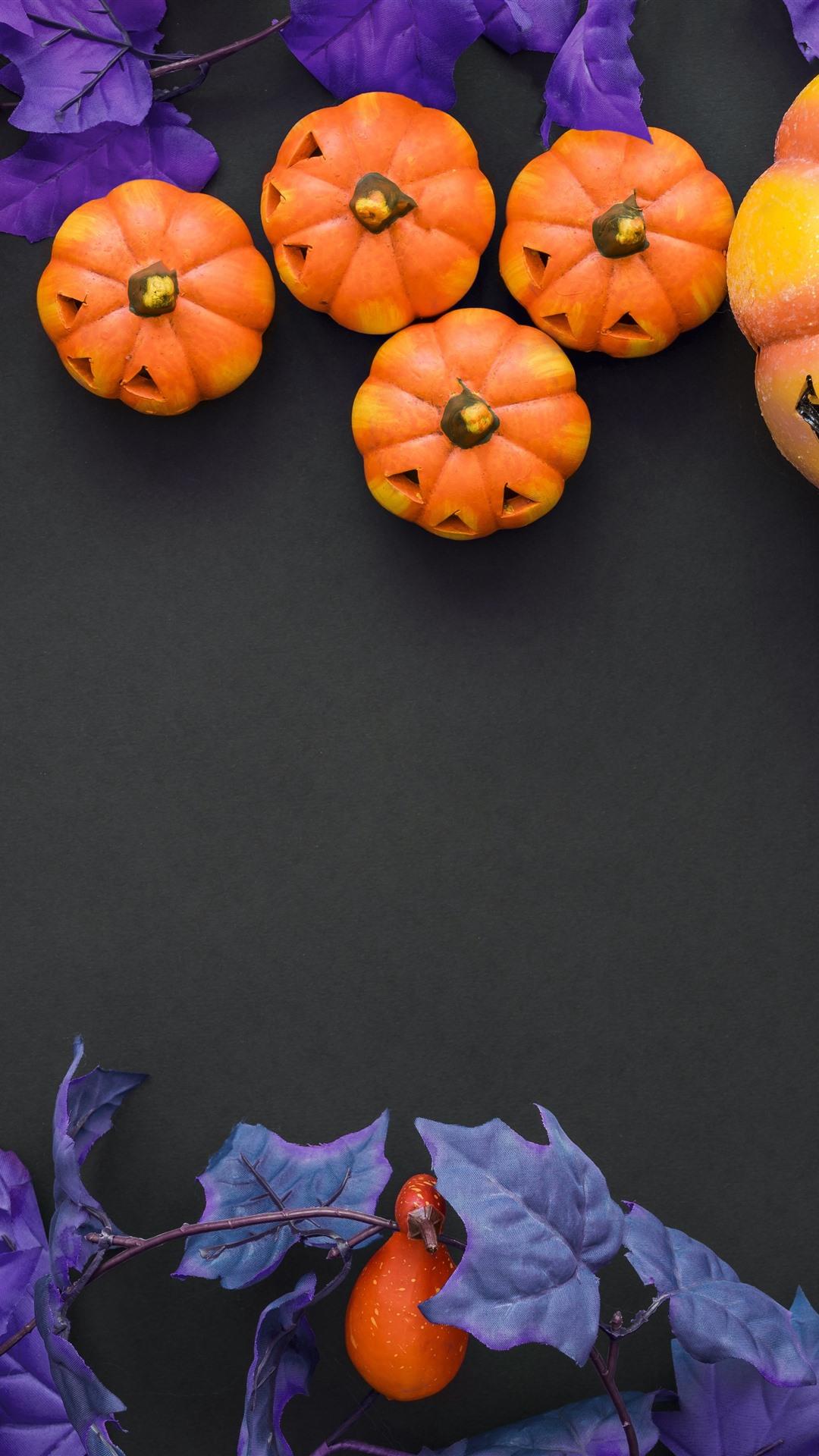 Halloween Pumpkin Berries Decoration 1242x2688 Iphone Xs