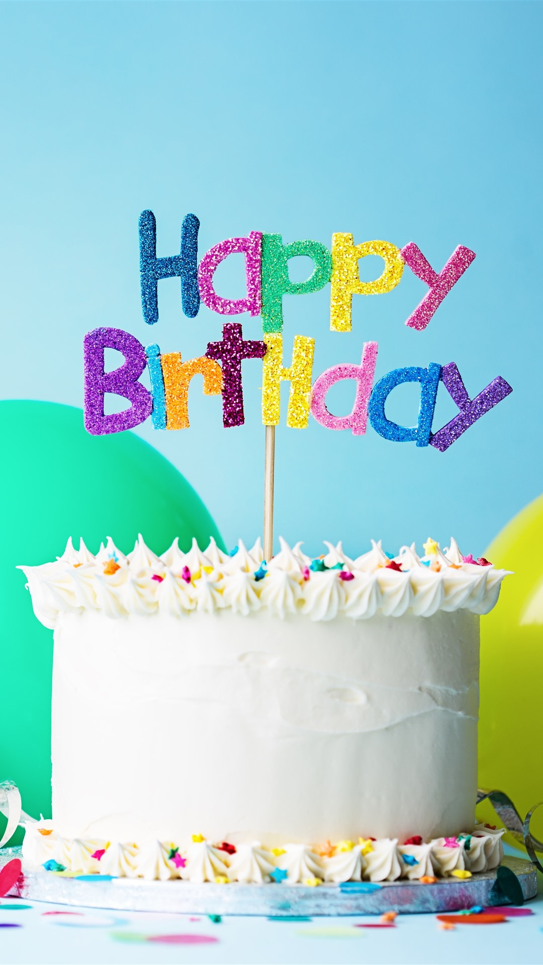 Astonishing Happy Birthday Cake Hat Balloon Ribbon 1242X2688 Iphone 11 Pro Funny Birthday Cards Online Aboleapandamsfinfo