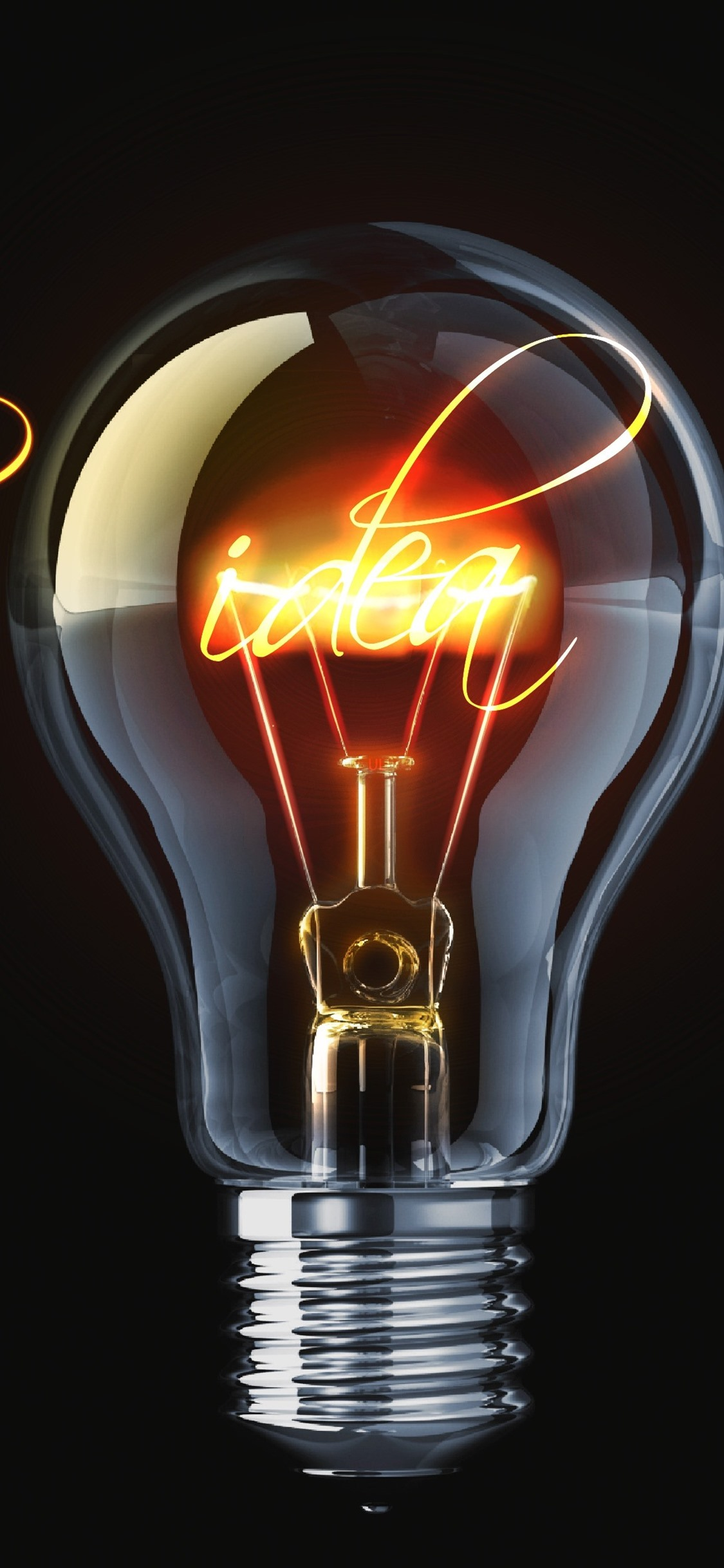 Light Bulb Lighting Black Background 1125x2436 Iphone Xs X