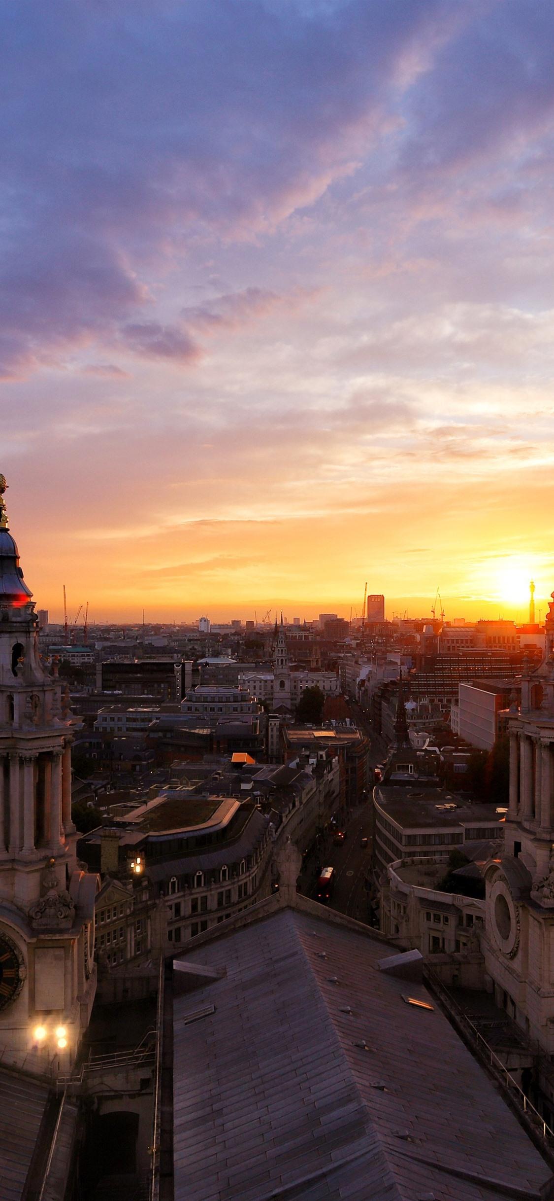 ロンドン 都市 夕暮れ 家 イギリス 1125x2436 Iphone 11 Pro Xs X