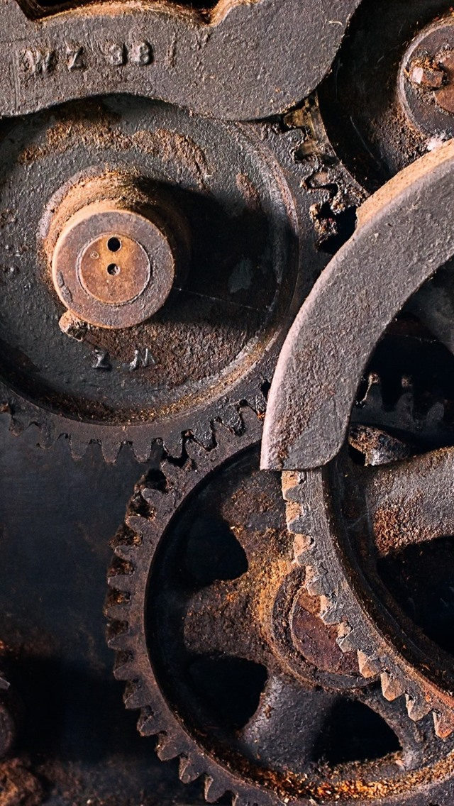 Machines Gears Rust 750x1334 Iphone 8 7 6 6s Wallpaper