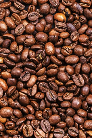 iPhone Wallpaper Many coffee beans, texture background