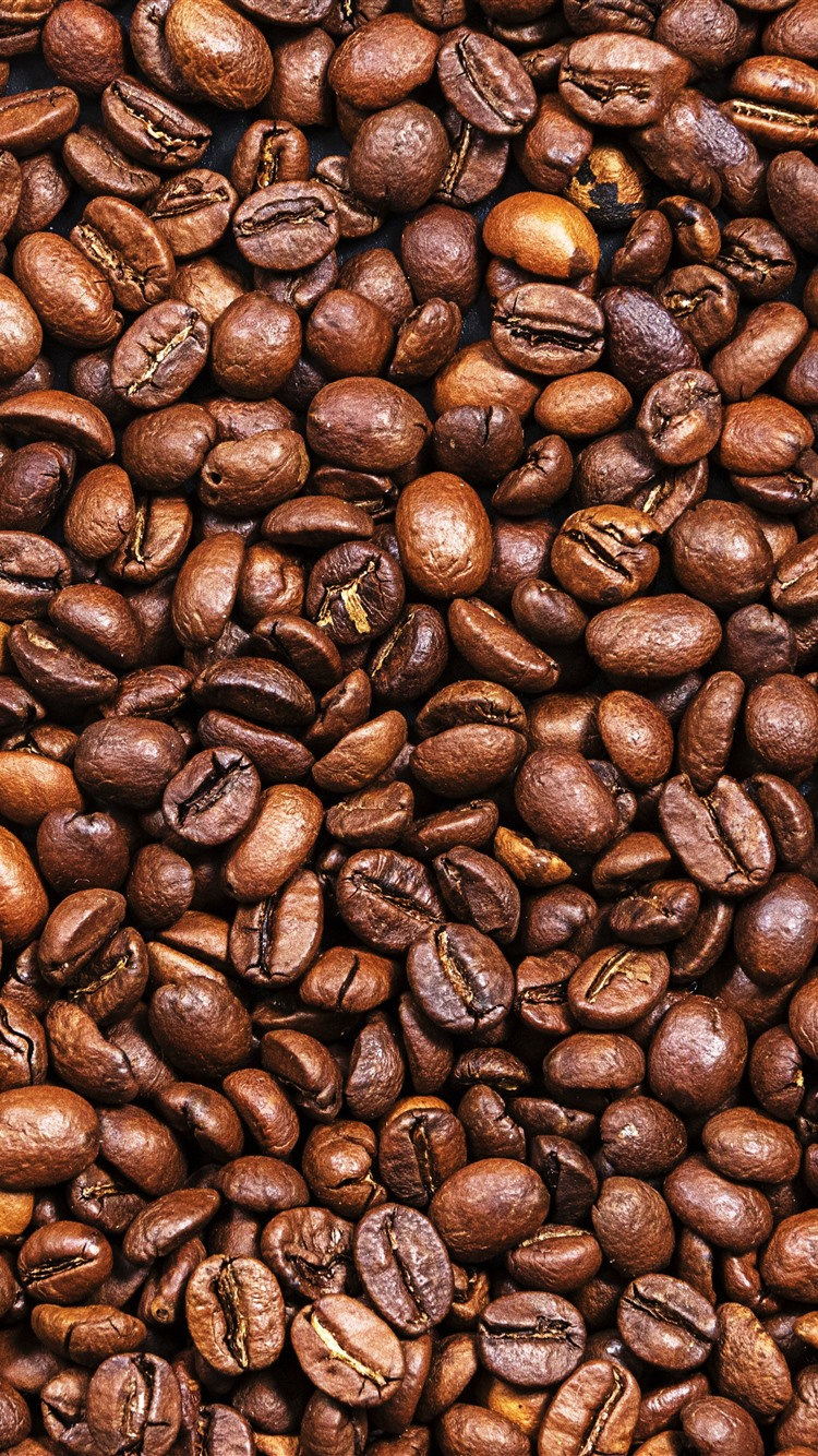 Wallpaper Many Coffee Beans Texture Background 5120x2880