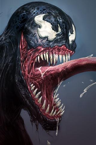 iPhone Hintergrundbilder Marvel Comics, Venom, Kunstbild