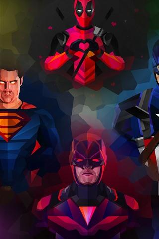 iPhone Wallpaper Marvel, superheroes, art picture