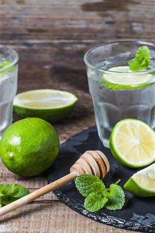 iPhone Papéis de Parede Mojito, bebidas, limão verde