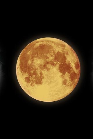 iPhone Wallpaper Moon, satellite, space, black background