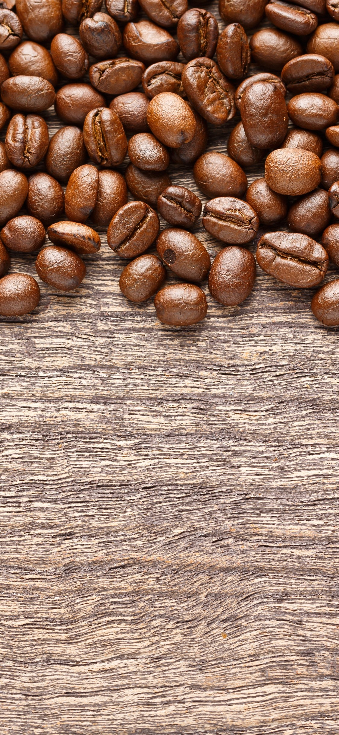 Roasted Coffee Beans Wood Board 1125x2436 Iphone Xs X