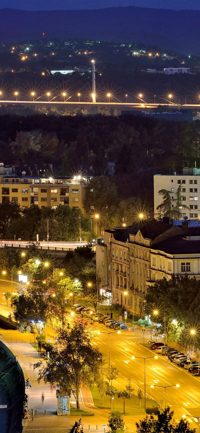 Serbia Novi Sad City Night River Lights 1080x1920 Iphone 8 7 6 6s Plus Wallpaper Background Picture Image