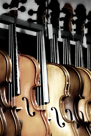 iPhone Wallpaper Some violins, music theme