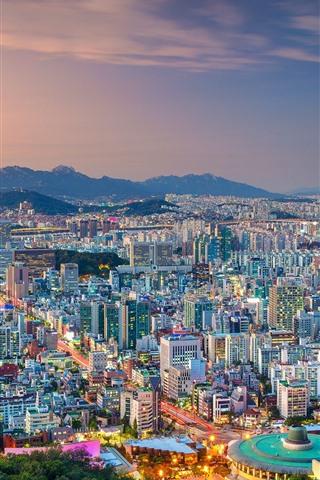 South Korea Seoul City View Dusk Lights 750x1334 Iphone 8 7 6 6s