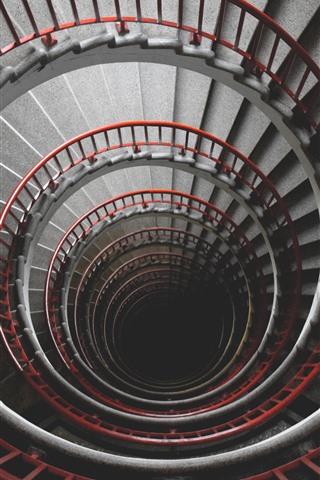 iPhone Wallpaper Spiral ladders, high