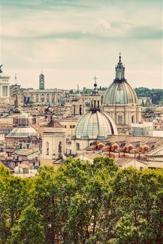 iPhone Wallpaper Travel to Rome, Italy, Europe, city view