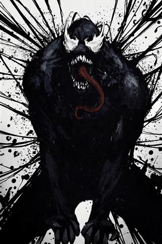 iPhone Hintergrundbilder Venom, Kunstbild, Horror