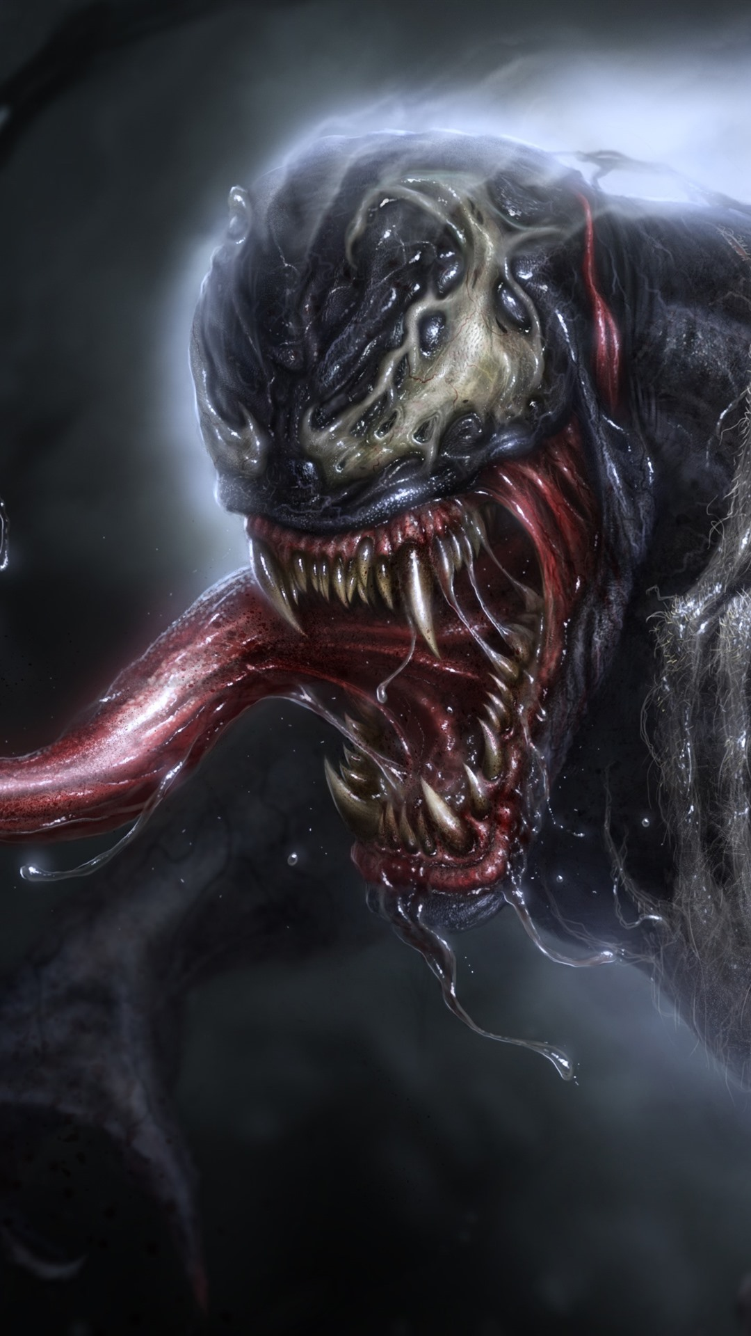 Venom Drool Marvel Comics 1125x2436 Iphone Xs X Wallpaper