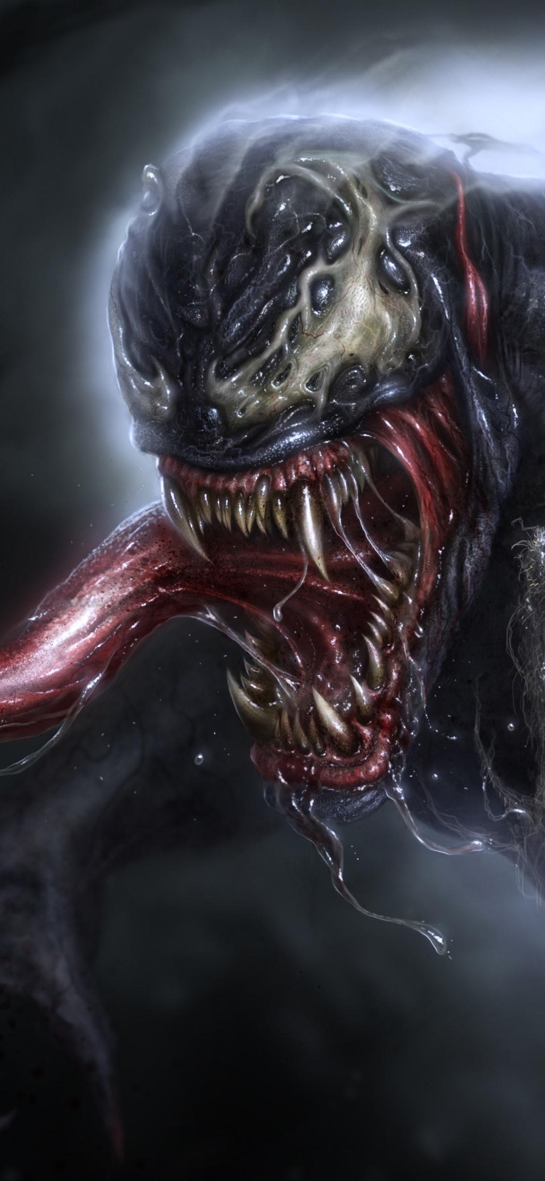 Venom Drool Marvel Comics 1125x2436 Iphone Xs X Wallpaper