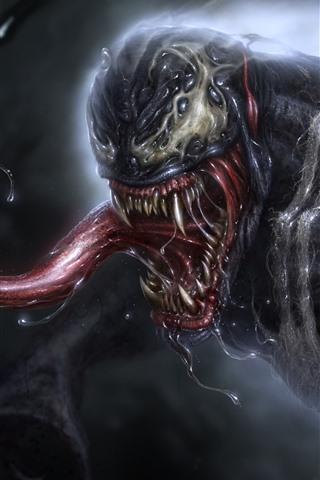 iPhone Hintergrundbilder Venom, Sabber, Marvel Comics
