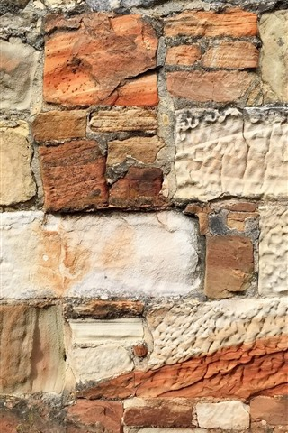 iPhone Wallpaper Wall, bricks, texture