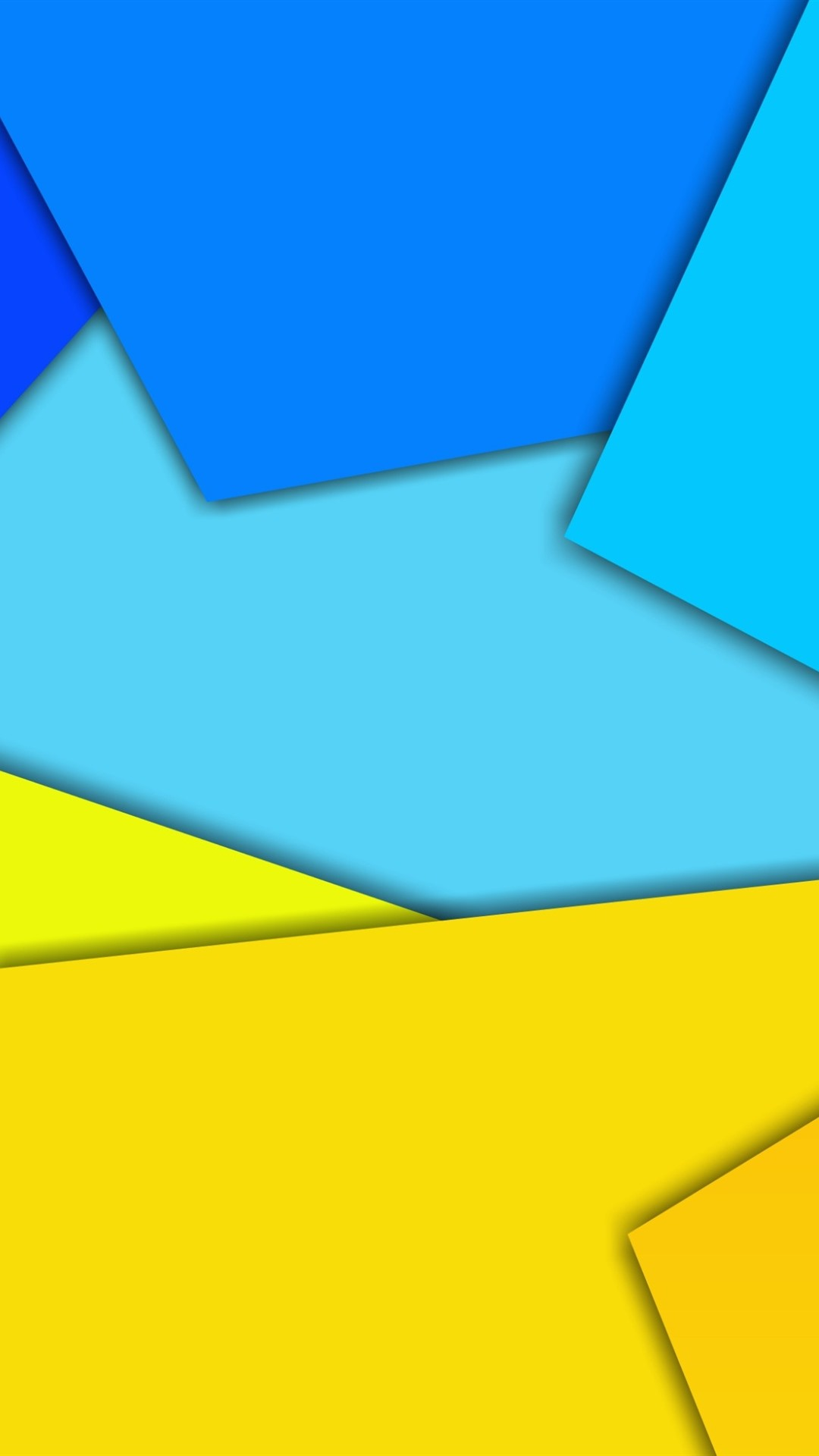 Yellow And Blue Geometric Figure Abstract Picture 1080x1920