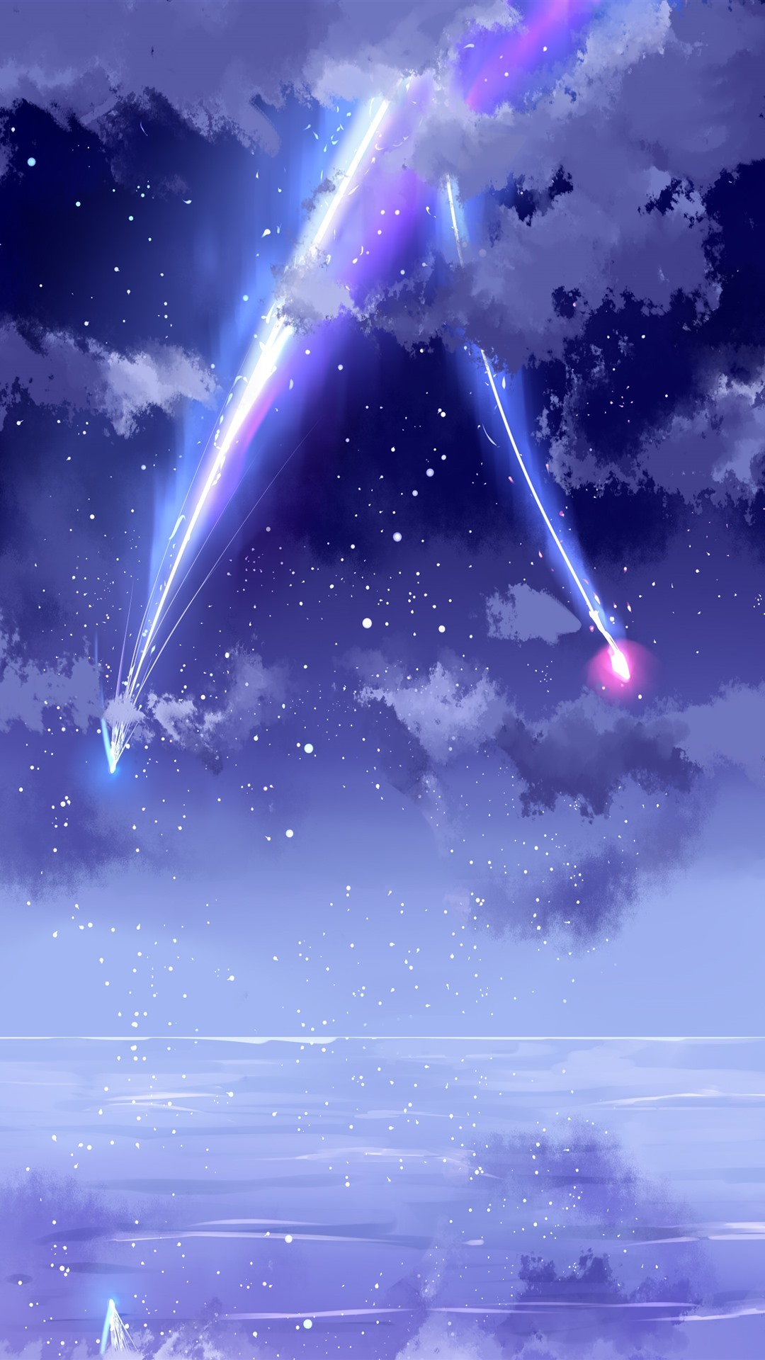 Wallpaper Your Name, beautiful sky, meteor, anime 3840x2160 UHD 4K Picture, Image