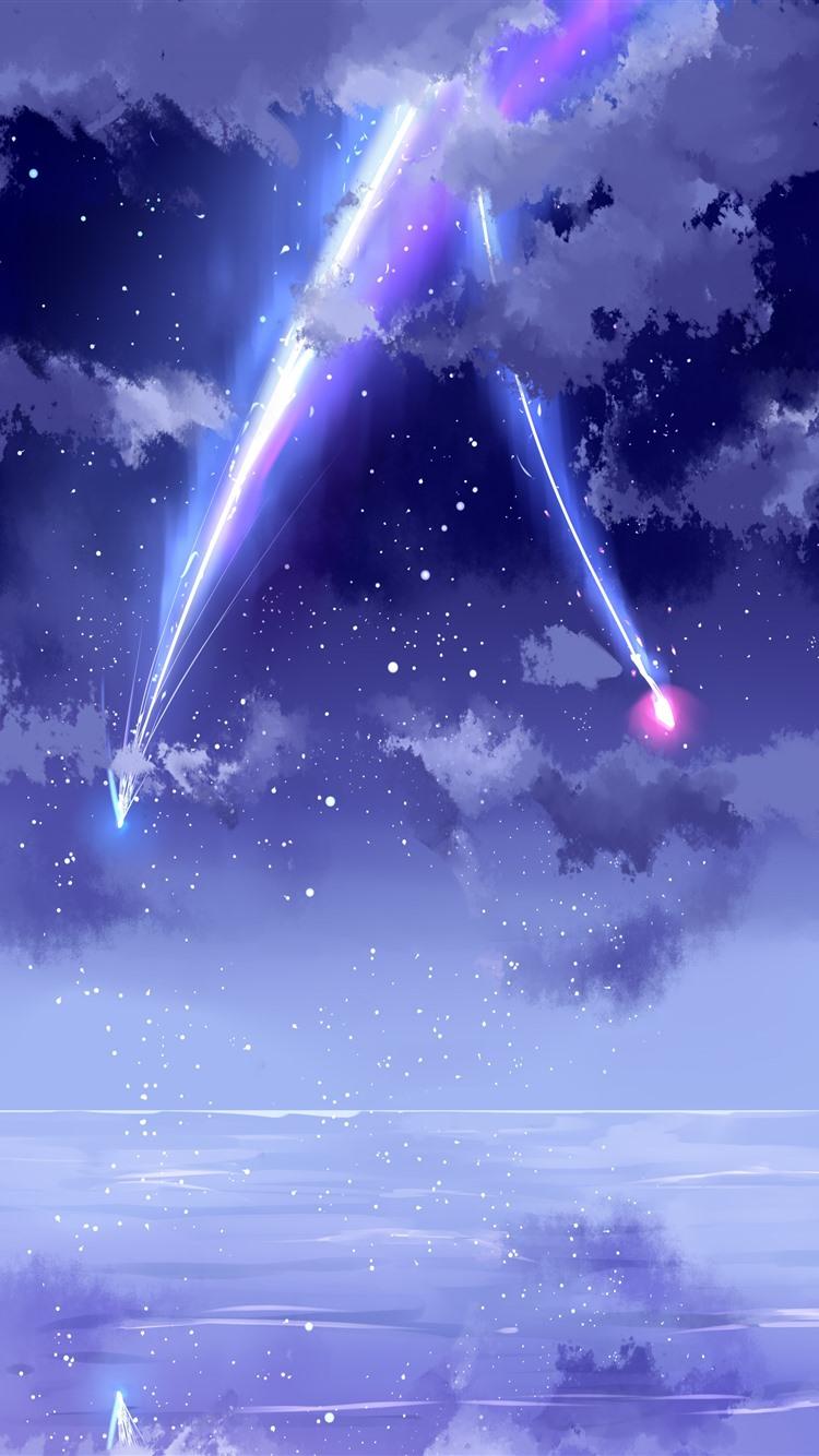 Wallpaper your name beautiful sky meteor anime - Anime phone wallpaper 4k ...