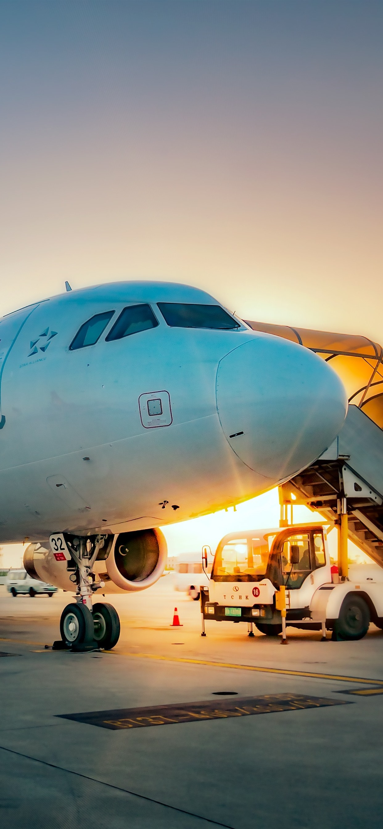 Airport Plane Sunrise 1242x2688 Iphone 11 Pro Xs Max Wallpaper Background Picture Image
