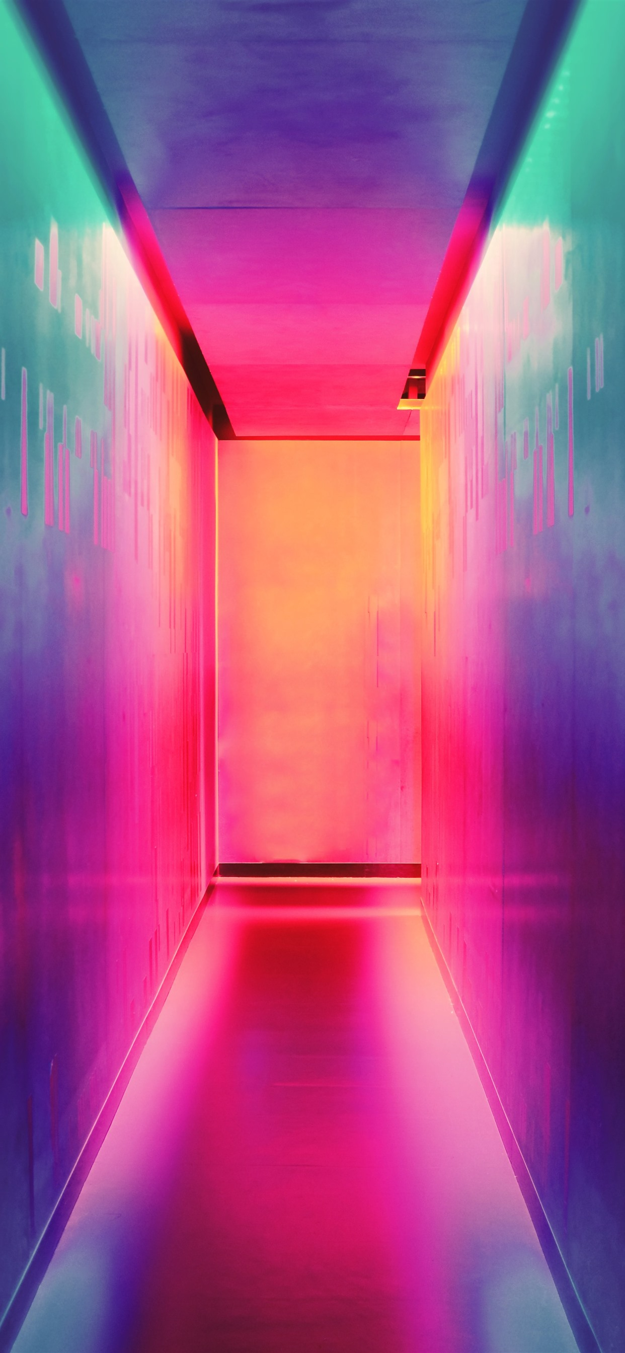 Alley Wall Colorful Light 1242x2688 Iphone Xs Max Wallpaper