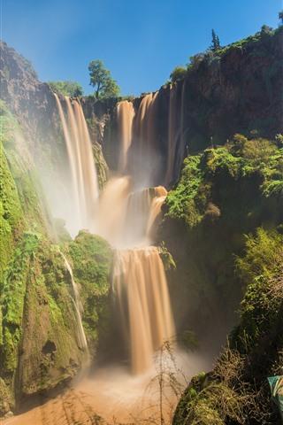 iPhone Wallpaper Beautiful waterfalls in Morocco