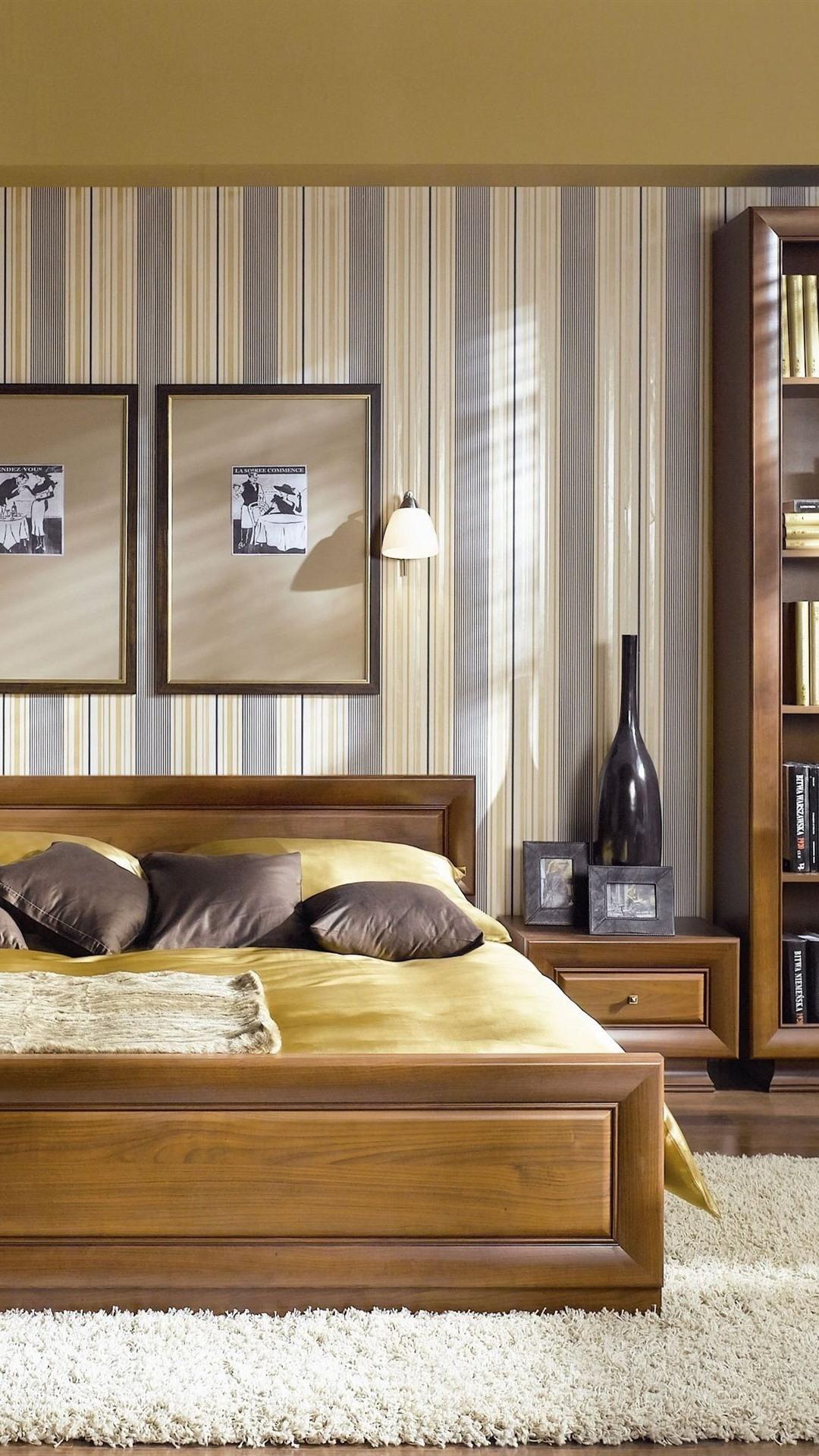 обои спальня кровать интерьер окна 2880x1800 Hd изображение
