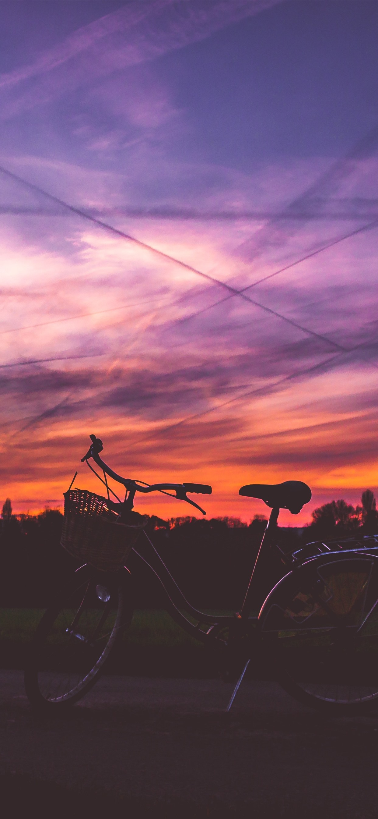 Wallpaper Bike Sunset Red Sky 5120x2880 Uhd 5k Picture Image