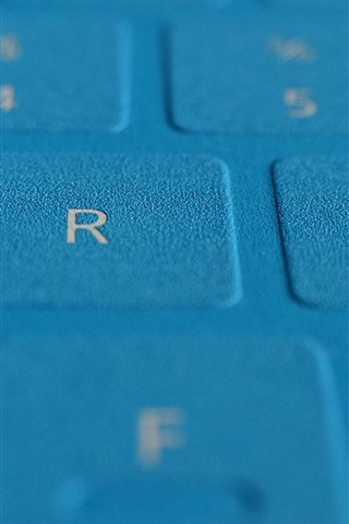 iPhone Wallpaper Blue keyboard surface close-up