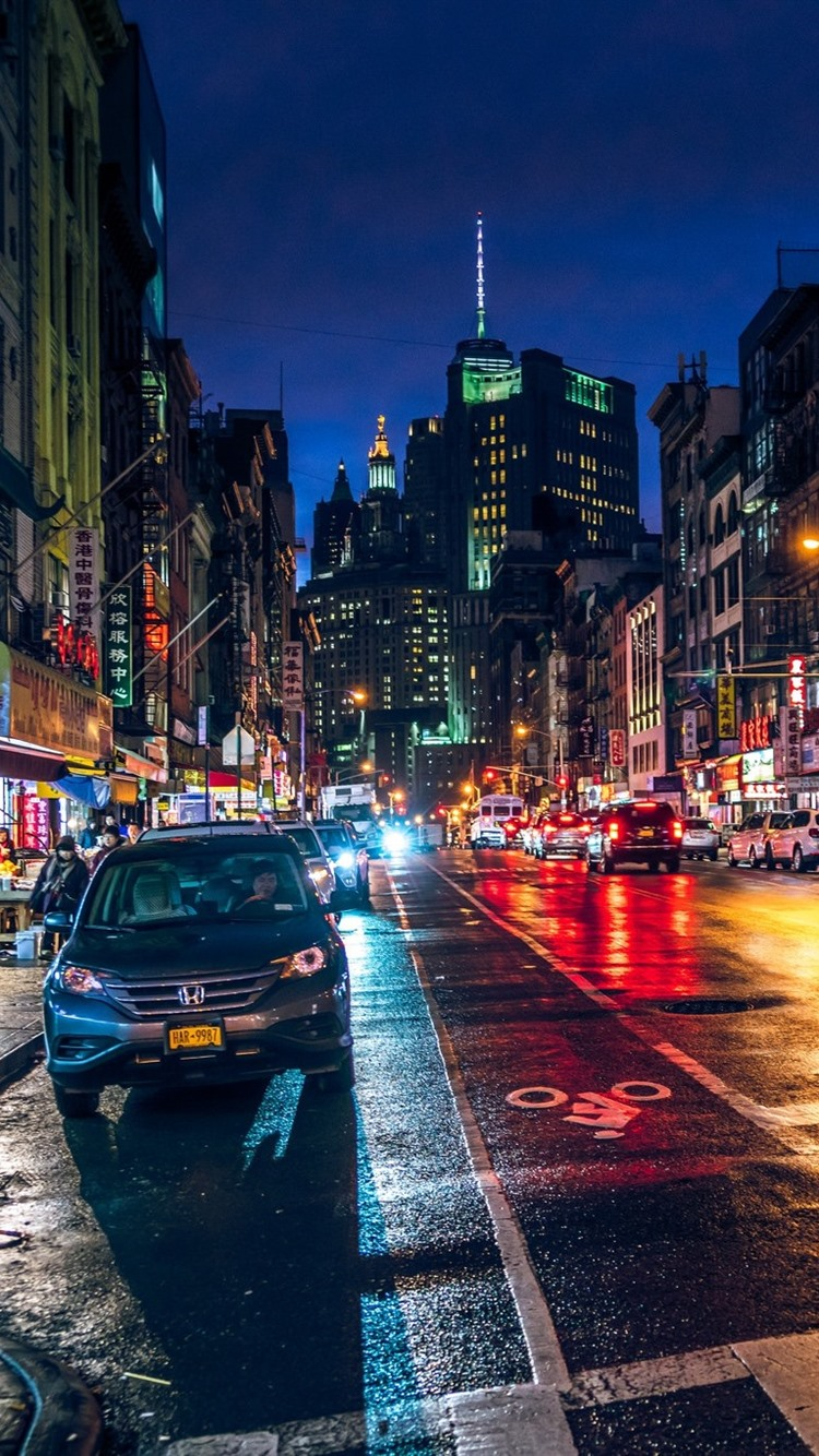 Wallpaper Chinatown New York City Street Night Usa 1920x1200 Hd Picture Image