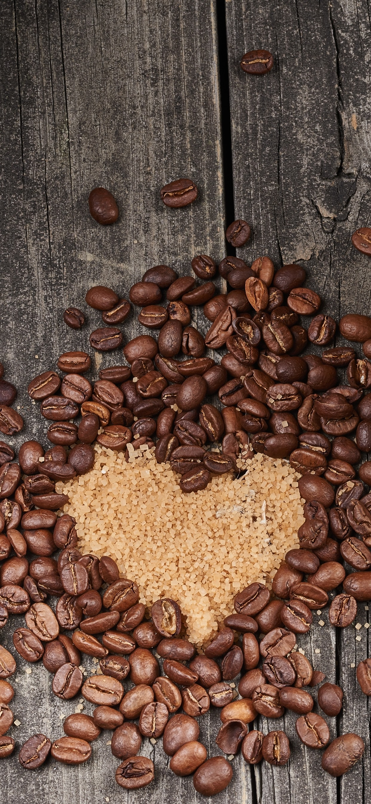 Coffee Beans Love Heart Cup Drinks 1242x2688 Iphone Xs