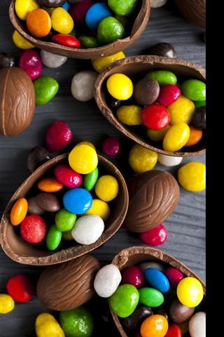 iPhone Обои Красочные конфеты, таблетки, шоколад