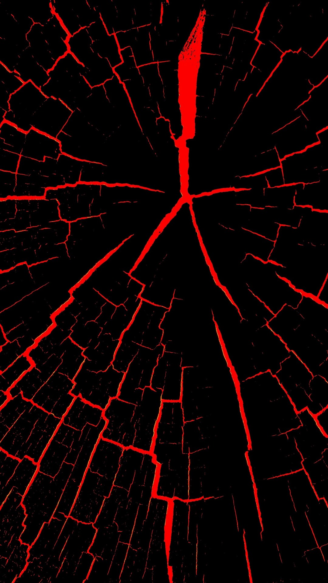 Wallpaper Cracks, Black And Red, Abstract 2880x1800 HD
