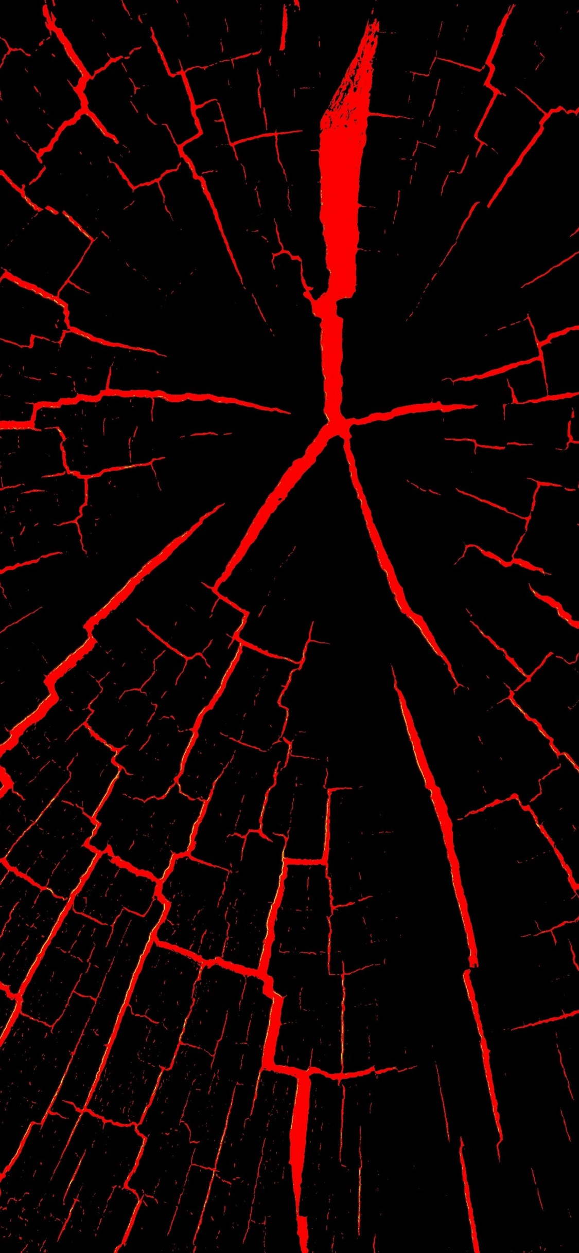 Cracks Black And Red Abstract 1242x2688 Iphone 11 Pro Xs Max Wallpaper Background Picture Image