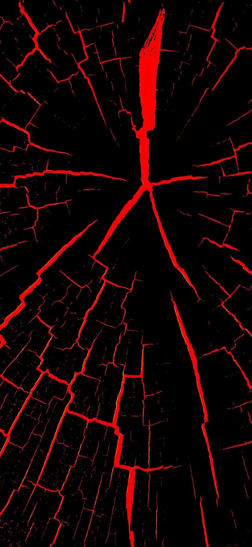 Cracks black and red