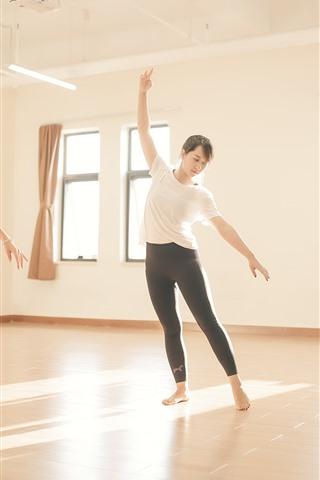 iPhone Wallpaper Dancing girls, fitness, room