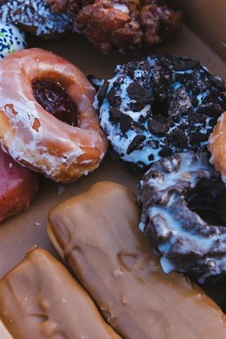 iPhone Wallpaper Donut, delicious dessert