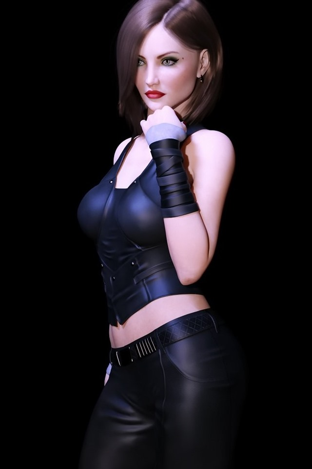 Fantasy Girl Sexy Black Background 640x960 Iphone 4 4s
