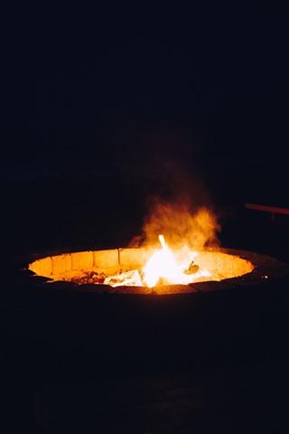 iPhone Обои Огонь, пламя, ночь, тьма