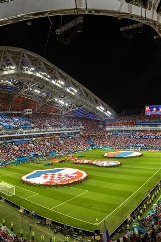 iPhone Wallpaper Football stadium, World Cup 2018
