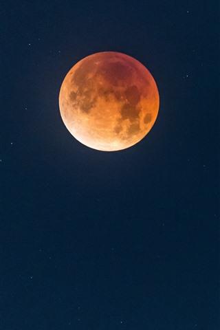 iPhone Wallpaper Full moon, night, sky, stars