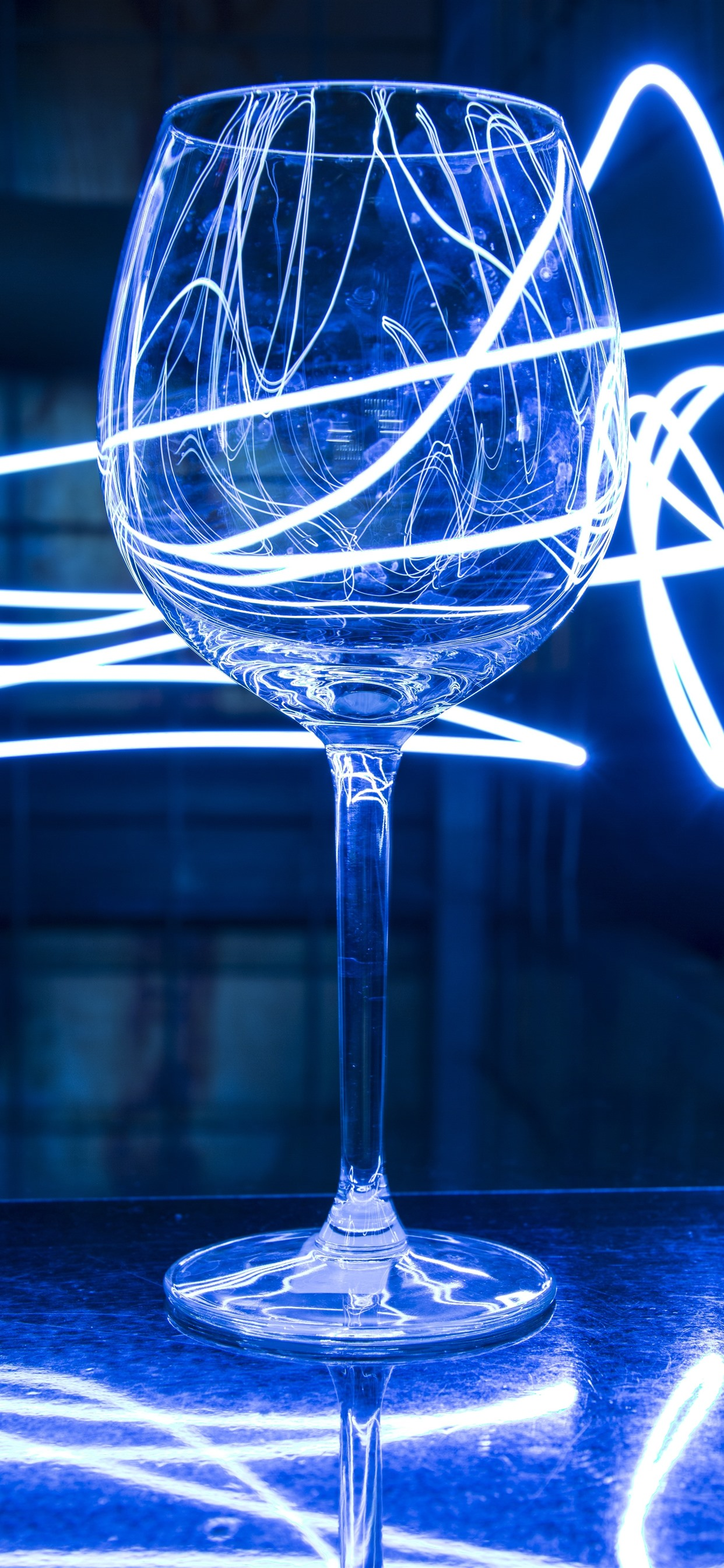 Glass Cup Neon Light 1242x2688 Iphone 11 Pro Xs Max Wallpaper Background Picture Image