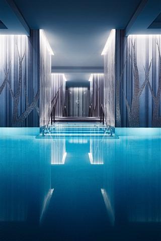 iPhone Wallpaper Interior, pool