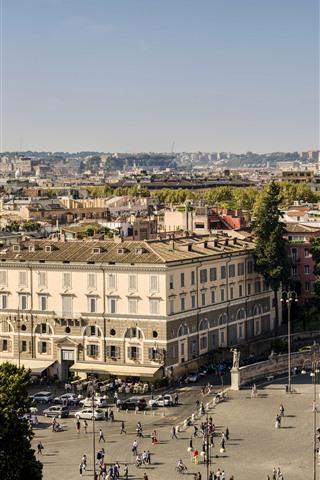 iPhone Wallpaper Italy, Rome, obelisk, city
